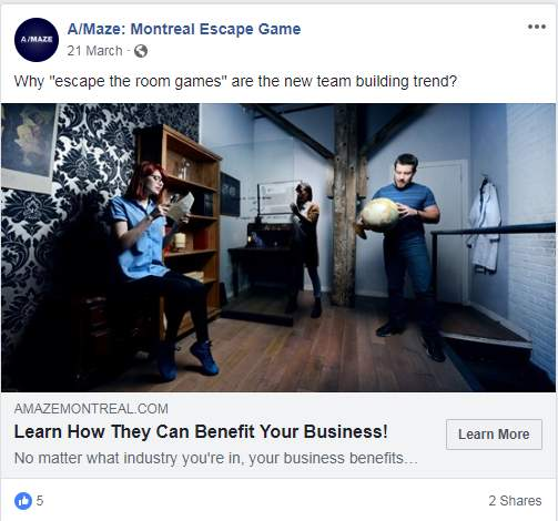 8 Facebook Ad Campaigns Used By Escape Rooms To Rachet Up
